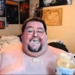 איש שמן עם מיונז